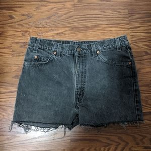 Levi's charcoal denim shorts